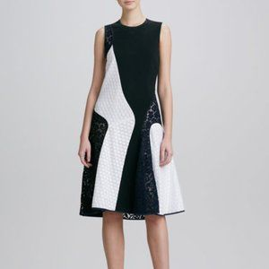 Derek Lam Sleeveless Lace Color-block Dress Size 6